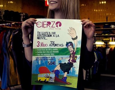 CIERZO snow-bus poster
