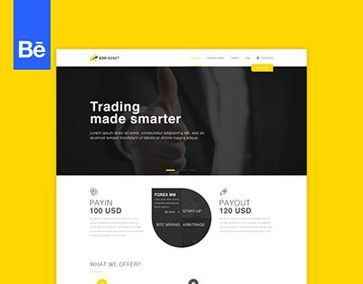 EXP ASSET - Live trading website