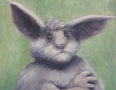 """""""Beware of my bunny"""" (speed oil painting)"""