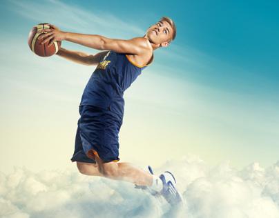 Ukrainian national youth basketball team in the sky