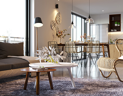 Living Room - Corona Render