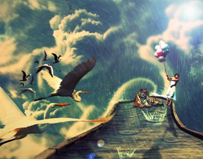 """""""Rain"""" Photomanipulation by Eddybiel"""