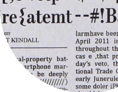 Glitched Newspaper