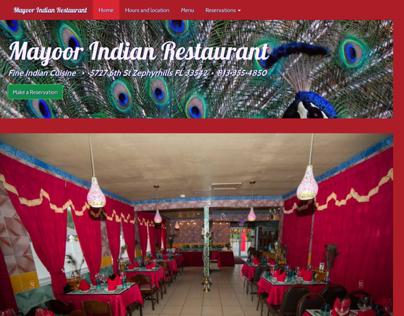MayoorRestaurant.com Website Design & Development
