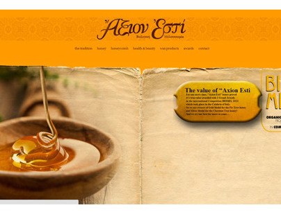 """Axion Esti"" Greek Honey - Web Design"