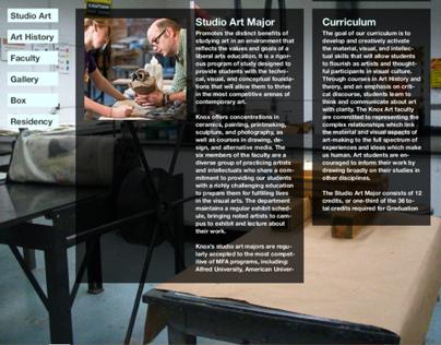 Knox College Art Department Website