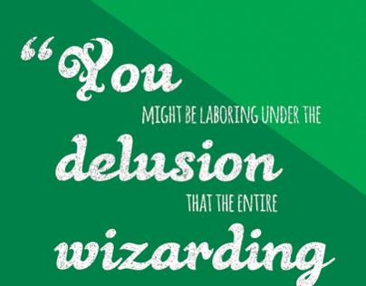 Harry Potter Typographic Posters