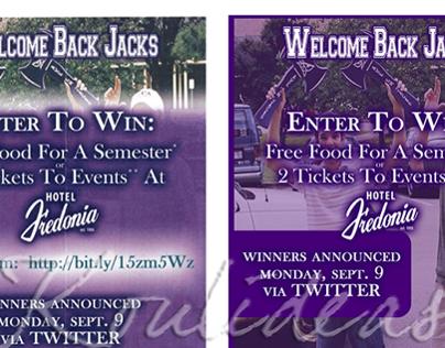 """Welcome Back Jacks"" Flyer"