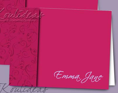 Folded Blank Notecard - Elegant & Colorful