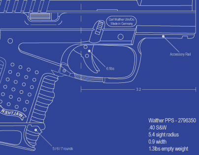 Walther PPS technical drawing