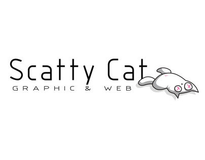 """""""Scatty Cat"""" logo and business card"""