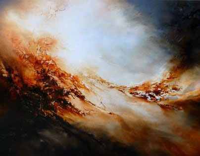 """Abstract Oil Painting on Canvas """" Forge"""""""