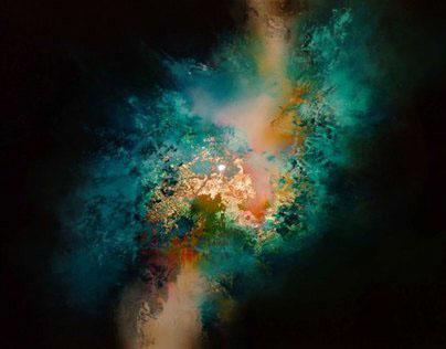 """Mixed media Abstract Painting """" Nova II"""""""