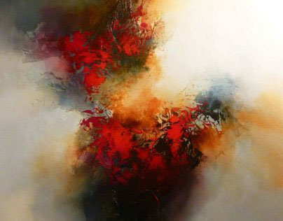 """Abstract Painting on Canvas """" Quantum"""""""