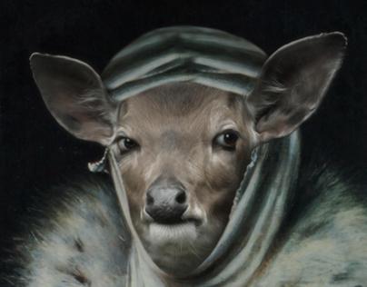 Royal Missis Gazelle Framed Portrait