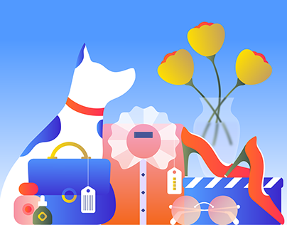 Editorial illustration about shopping and wishlists