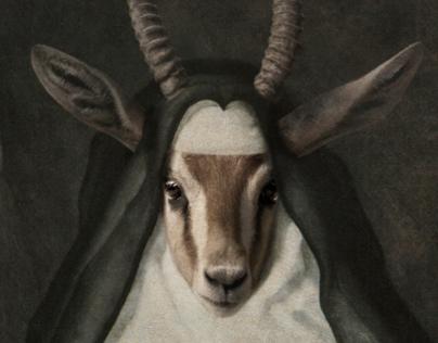 Royal Sister Gazelle Framed Portrait