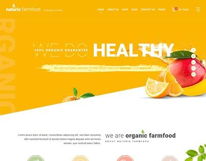 Naturix Organic Fruit Vegetables Store HTML Template