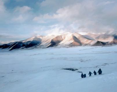 Tibetian snowscape