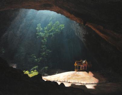 Painting of Phraya Nakon Cave Pavilion