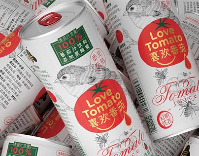 """喜欢番茄""包装设计 Love Tomato"
