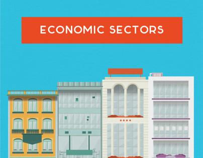 economic sectors // illustrations