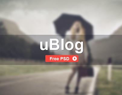 uBlog - Free PSD