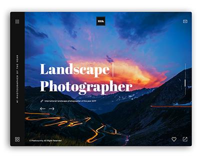 Photographer / Artist and DesignerWebsite UI
