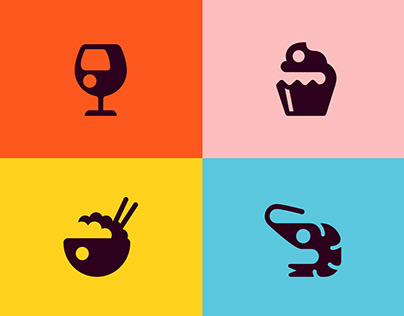 Restaurant Icon set for Adobe XD