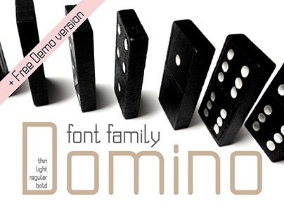 Domino san serif font family + free Demo version