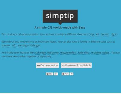 Simptip - simple css tooltip