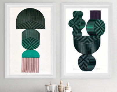 Herba Mythologica, collection of linocut prints