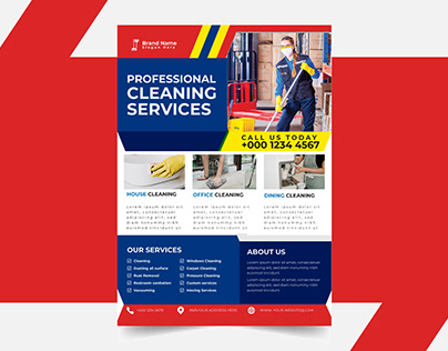 cleaning service flyer template design