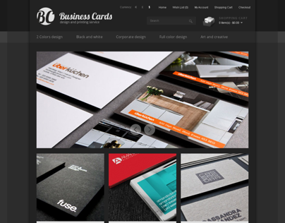 Business Cards Design & Printing Service OpenCart Theme