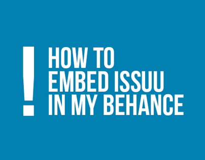 How to embed issuu in my behance?