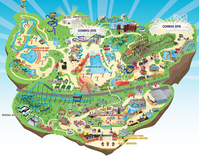 Kentucky Kingdom Park Map On Behance