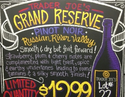 Chalkboard Work - TJ's Thousand Oaks