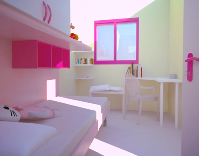 Girl's Bedroom Design