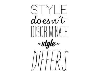 Style Doesn't Discriminate, Style Differs