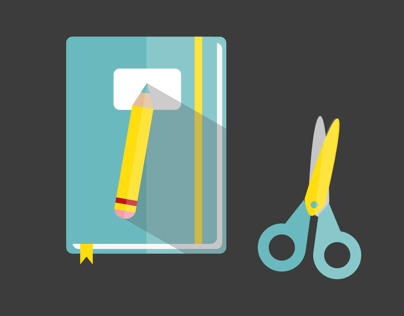 Stationery Elements {flat icons} II