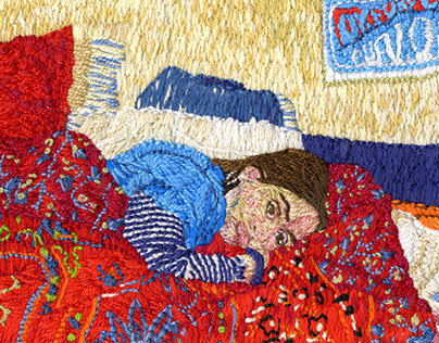 Self in Bed Embroidery