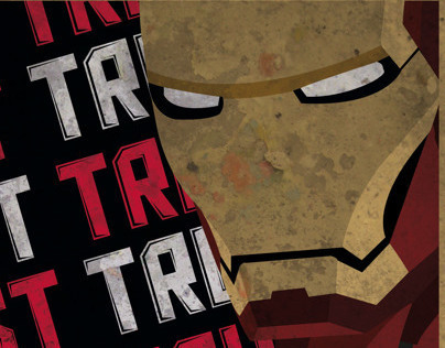 Iron-Man inspired by Shepard Fairey's style