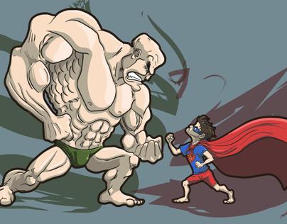 Lex Luthor vs Superman kid