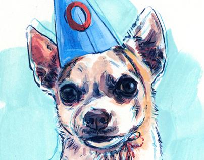 Illustrations for Oscar Dog's Blog #1