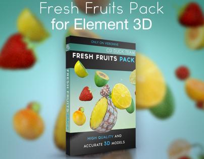 Fresh Fruits Pack for Element 3D