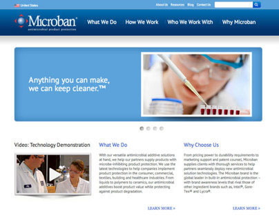 Microban Website Responsive Template Design