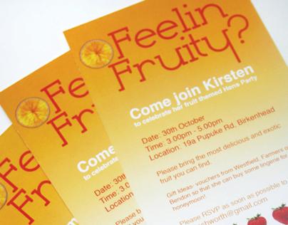 Feelin' Fruity - Party Invitation