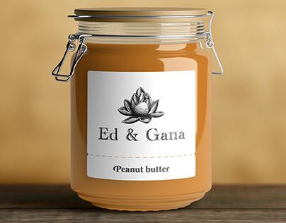 """Logotype for peanut butter """"Ed & Gana"""""""
