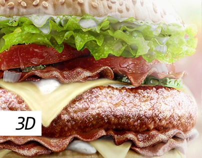 BACON BURGER 3D