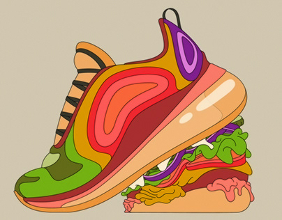 Selection of food illustrations. Editorial + personal